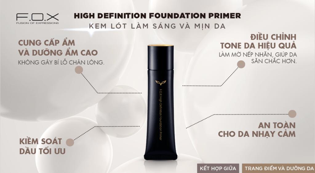 Kem Lót High Definition Foundation Primer Sáng Mịn Da 35ml - Fox Website