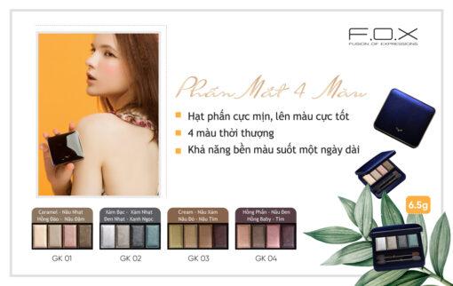 GK Phấn Mắt Eyeshadow Palette 4 Màu 6.5g