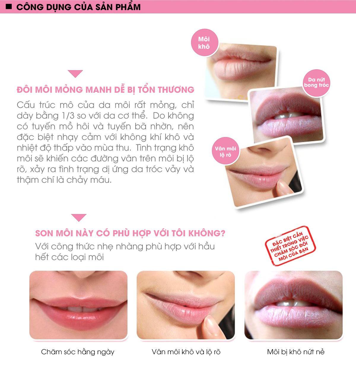 Công Dụng Của Son Dưỡng Moisturizing Lipstick