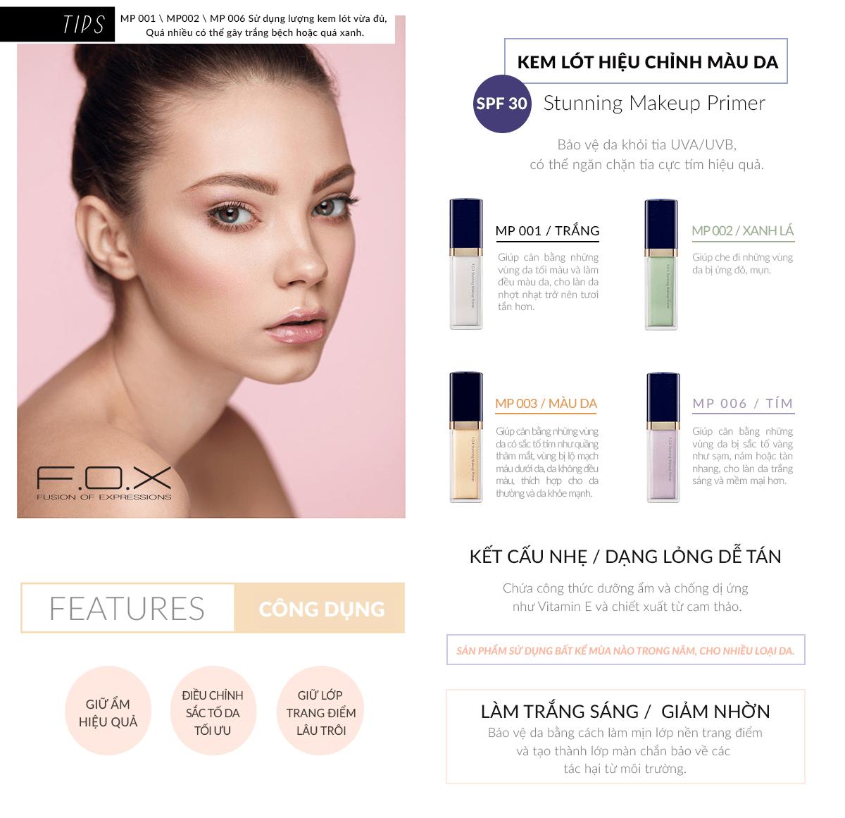 Công Dụng Của Kem Lót Stunning Makeup Primer