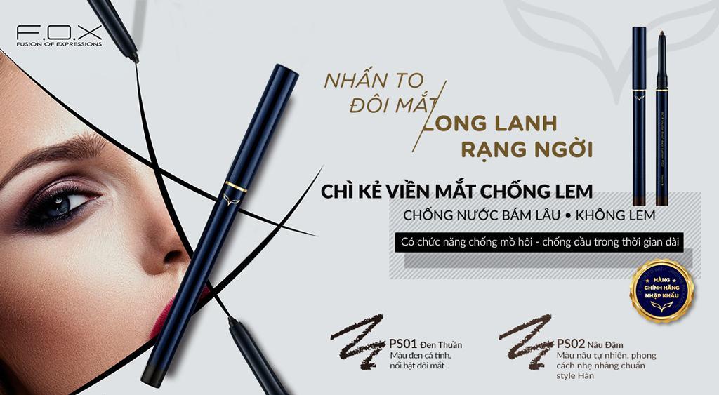 Chì Kẻ Viền Mắt Smudge-Proof Magic Eyeliner Chống Lem 0.3g - Fox Website
