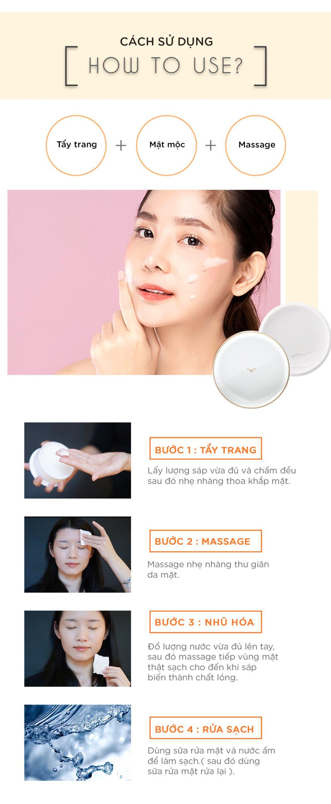 Cách sử dụng kem tẩy trang makeup remover cream