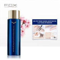 QS04 Dầu Tẩy Trang Sakura Moisture Eye & Lip Make Up Remover 100ml