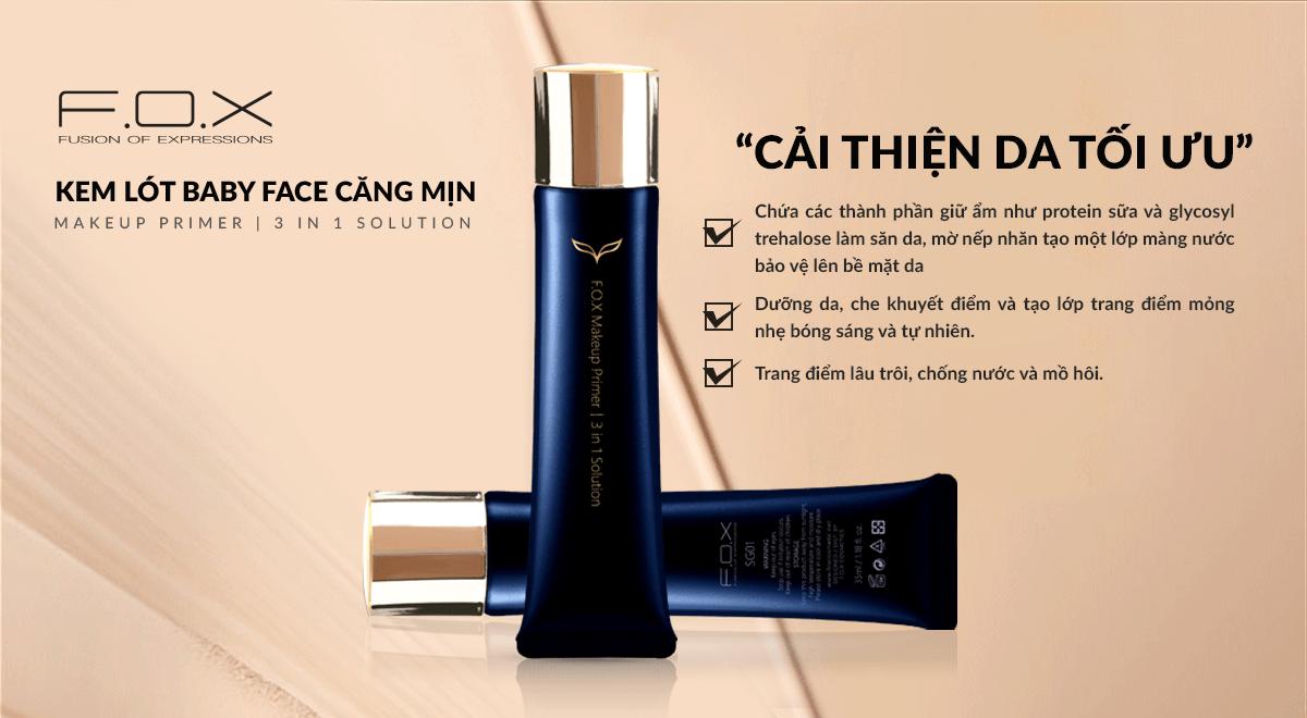 Kem Lót Makeup Primer 3 In 1 Solution Đa Năng Căng Mịn 30ml - Fox Website
