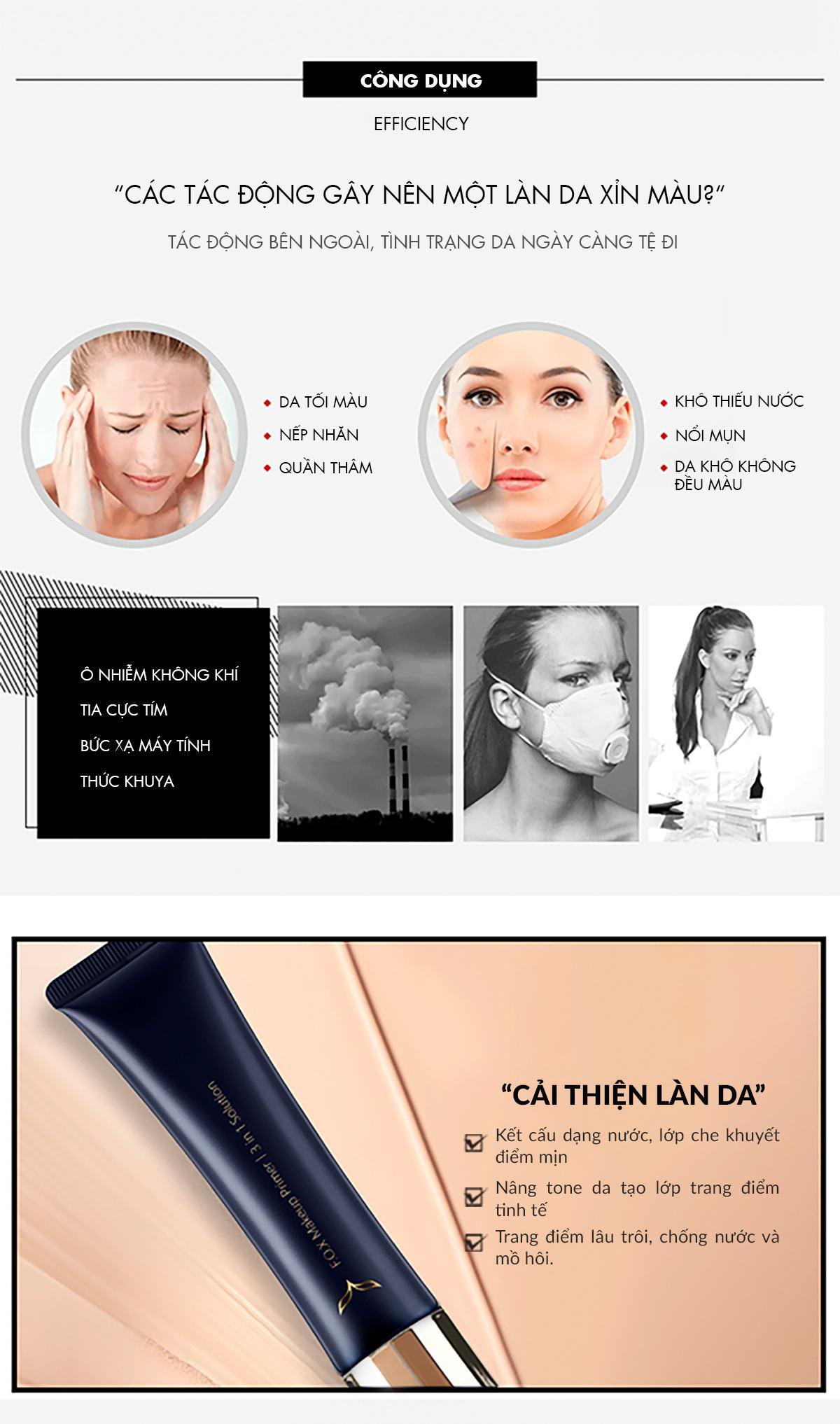 Công Dụng Của Kem Lót Makeup Primer 3 In 1 Solution