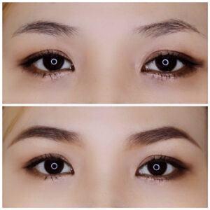 Đôi Mắt Sau Khi Dùng Chì Kẻ Mày Triangular Eyebrow