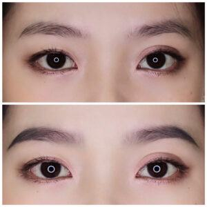 Đôi Mắt Sau Khi Sử Dụng Chì Kẻ Mày Triangular Eyebrow