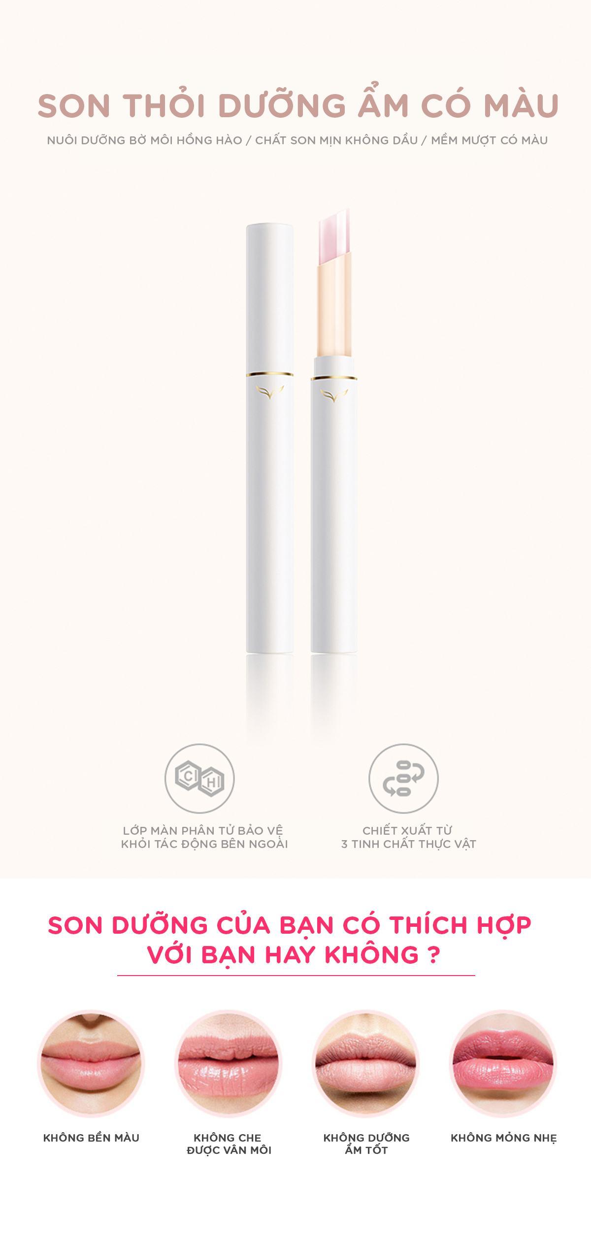 Son Gió Moisturizing Lipstick Dưỡng Ẩm Và Bảo Vệ Môi 2.4g