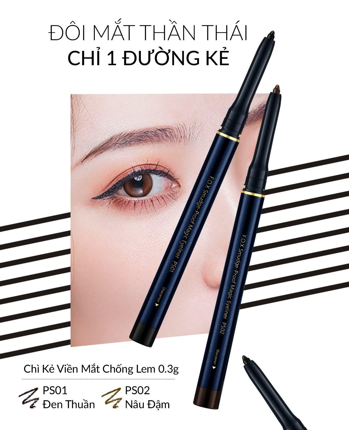 Chì Kẻ Viền Mắt Smudge Proof Magic Eyeliner Chống Lem