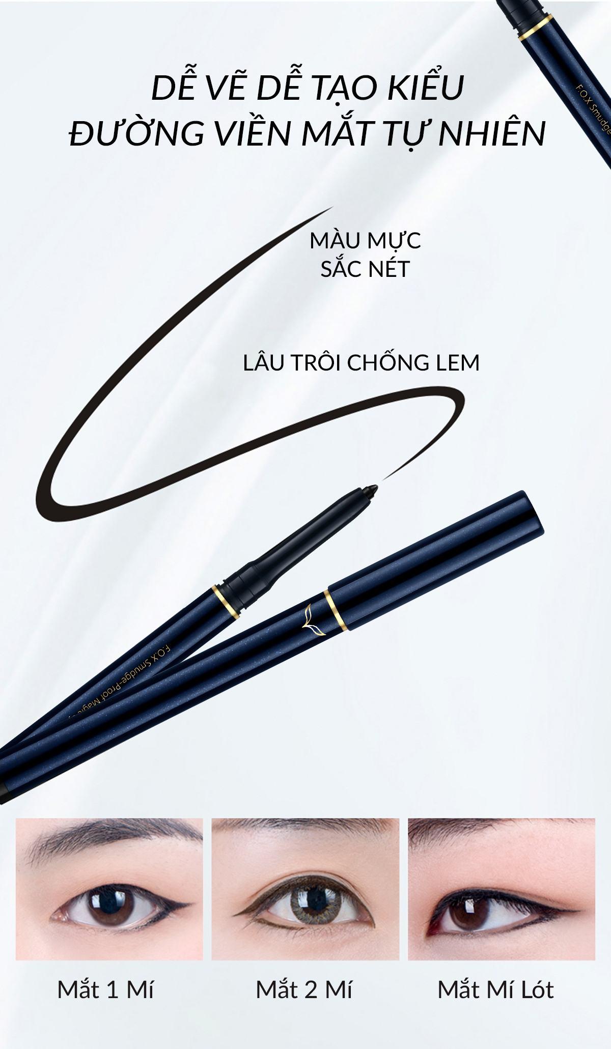 Chì Kẻ Viền Mắt Smudge Proof Magic Eyeliner