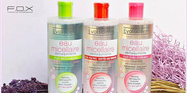 Nước tẩy trang cho da dầu mụn Evoluderm Micellar Cleansing Water