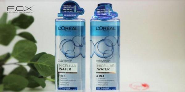 Nước tẩy trang kiềm dầu L'Oreal 3 In 1 Micellar