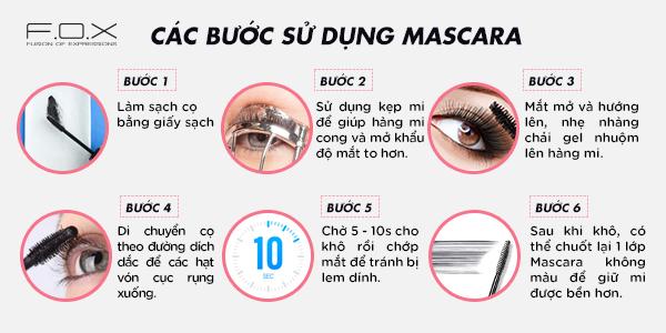 Mascara được sử dụng như thế nào
