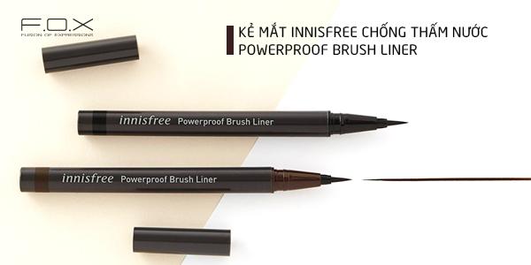 Chì kẻ mắt innisfree powerproof brush liner