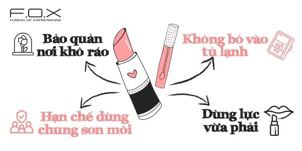 Hướng dẫn bảo quản son môi