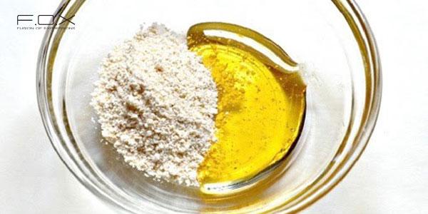 Mặt nạ yến mạch dầu Oliu và lòng trắng trứng