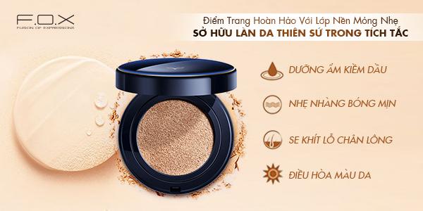 Phấn nước dành cho da dầu mụn Shining Cushion Foundation Siêu Mịn SPF 50+++
