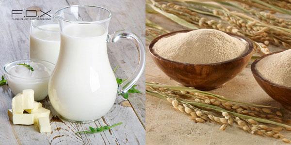 Công thức làm đẹp bằng sữa tươi không đường và cám gạo