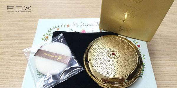 Phấn phủ dạng nén Whoo Gongjinhyang Mi Powder Pact SPF30/PA++ #01 dược liệu quý