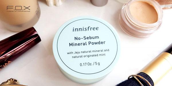 Phấn phủ cho da dầu mụn Innisfree No Sebum Mineral Powder