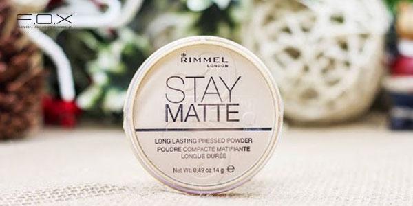 Phấn phủ tốt cho da dầu nhạy cảm Rimmel London Stay Matte Pressed Powder