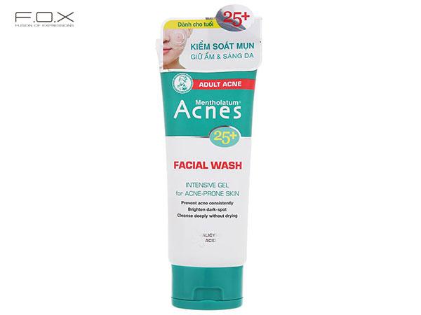 Sữa rửa mặt không bọt Acnes 25+ Facial Wash