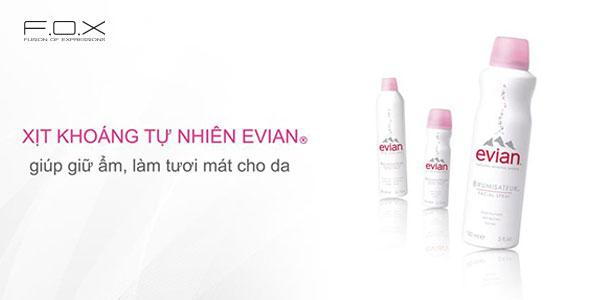 Xịt khoáng cho da dầu Evian Natural Mineral Water Spray