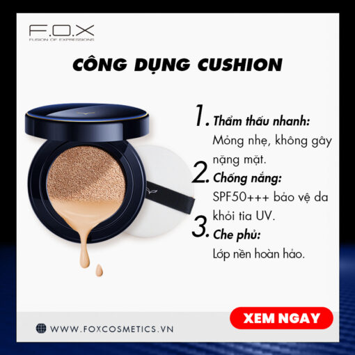 Phấn Nước Shining Cushion Foundation Siêu Mịn SPF 50+++ 15g
