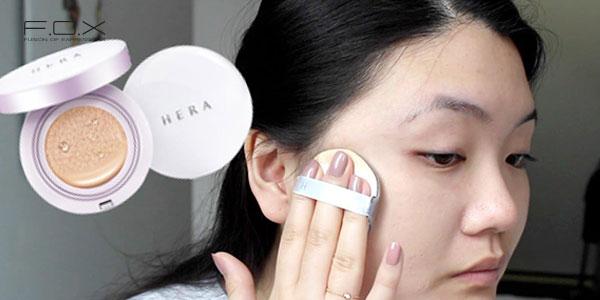 Cách dùng phấn nước Hera UV Mist Cushion đạt hiệu quả
