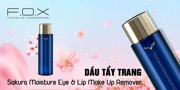 Dầu Tẩy Trang Sakura Moisture Eye - Lip Make Up Remover