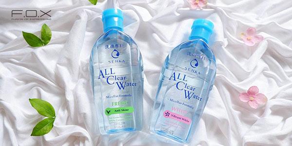 Nước tẩy trang cho da nhạy cảm của Nhật Senka All Clear Water Fresh