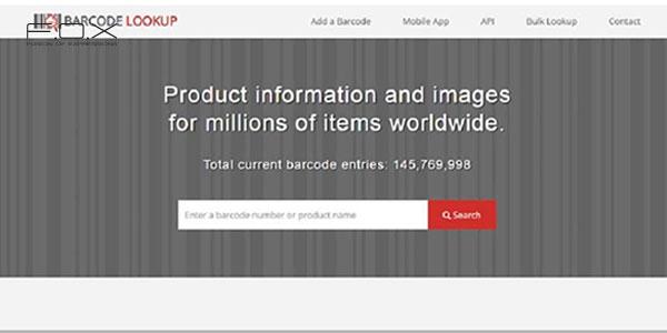 Website check mã vạch mỹ phẩm Barcode Lookup