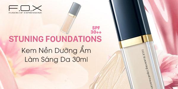 Kem nền cho da khô F.O.X Stunning Liquid Foundation SPF 30++