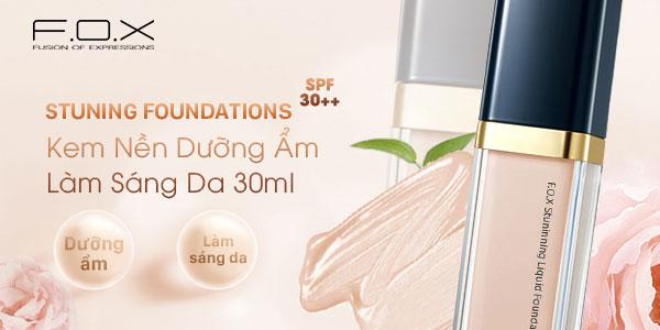 Kem nền Stunning Liquid Foundation SPF 30++ Dưỡng Ẩm Làm Sáng Da