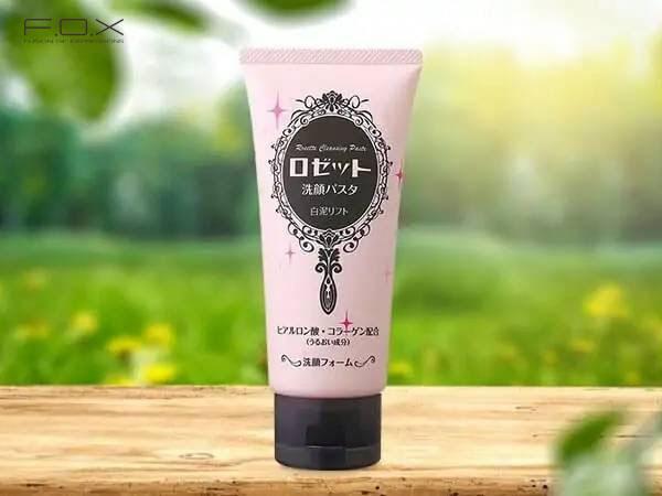 Sữa rửa mặt cho da khô của Nhật Rosette Cleansing Paste White Clay Lift màu hồng
