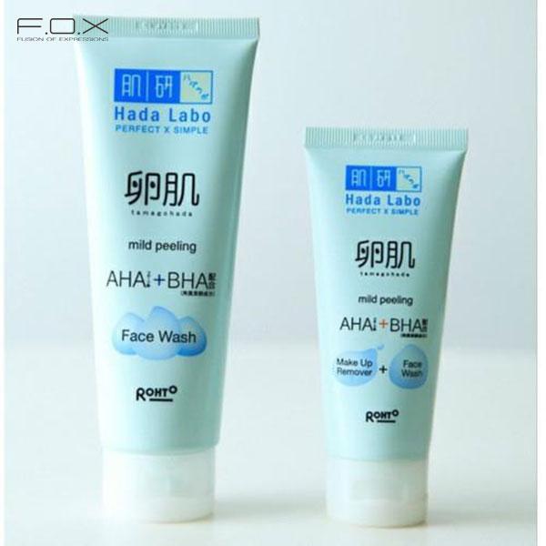 Sữa rửa mặt trị mụn cám Hada Labo AHA + BHA Face Wash