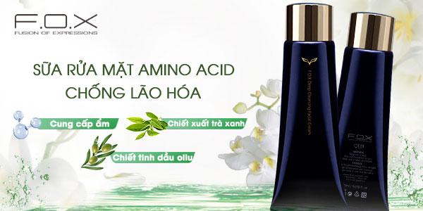 Sữa rửa mặt trị mụn cho da dầu F.O.X Cosmetics Amino Acid