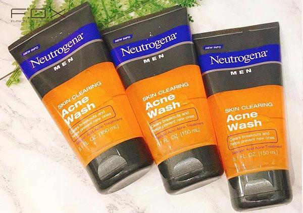 Sữa rửa mặt trị mụn thâm Neutrogena Men Acne Wash